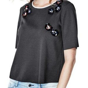 Guess Short Sleeve Embellished Tee